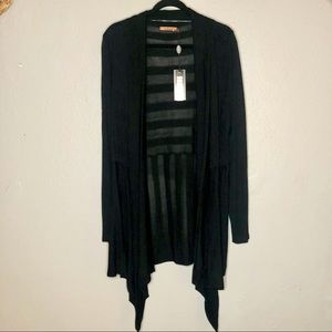 Belldini Open Longline Striped Cardigan 3X